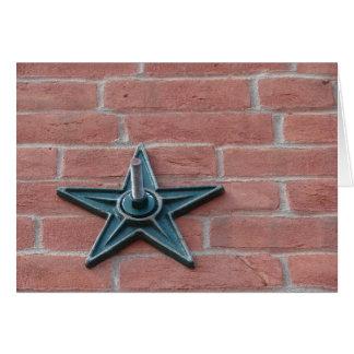 Star on Brick Card
