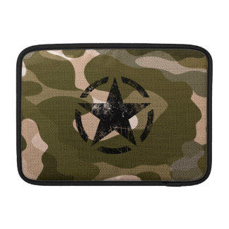 Star on Burlap style MacBook Sleeve