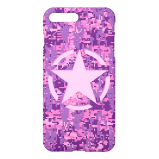 Star on Girly Hot Pink Camo iPhone 8 Plus/7 Plus Case