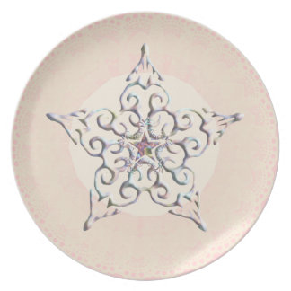 Star On Lace Dinner Plate