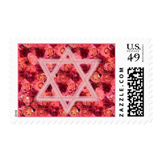 Star on Roses Postage