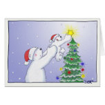 Star on the Tree Greeting Card