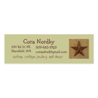 star on wood, Cora Nordby Double-Sided Mini Business Cards (Pack Of 20)
