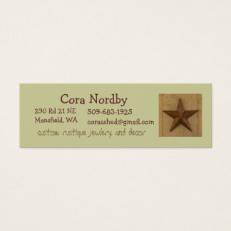 star on wood, Cora Nordby Mini Business Card