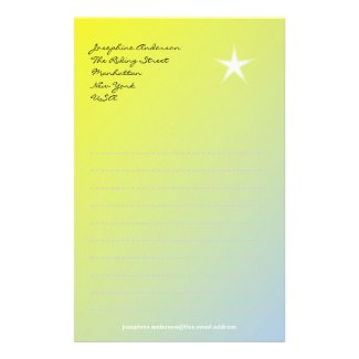 Star on Yellow Paper