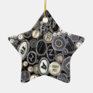 Star Ornament - Typewriter Keys