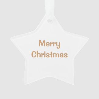 Star Ornament White