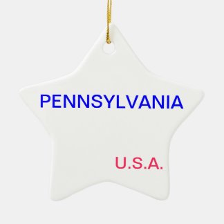 Star ornament with pennsylvania and harrisburg on