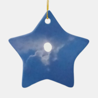 Star Ornament with Photo of Full Moon