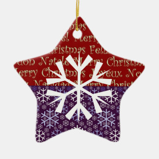 Star Ornament with Snowflake
