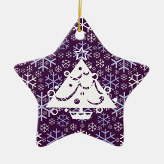Star Ornament with Tree and Snowflake