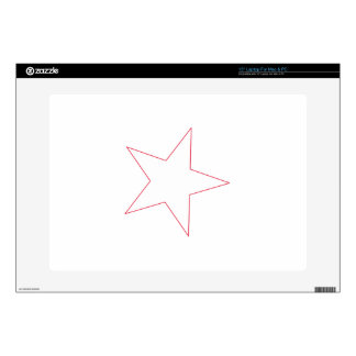 Star Outline Laptop Decal