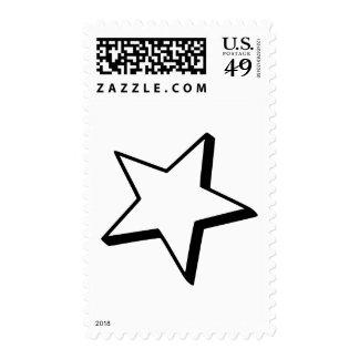 Star outline postage stamps