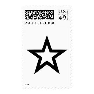 Star outline stamp