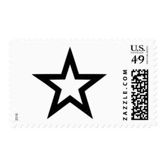 Star outline stamps