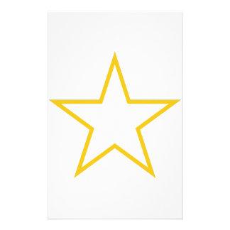 Star Outline Stationery