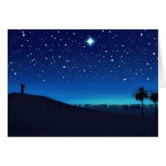 Star Over Bethlehem Christmas Card at Zazzle