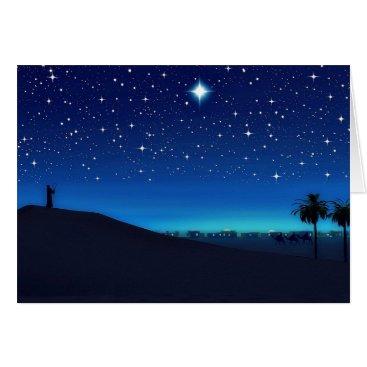 Christmas Themed Star Over Bethlehem Christmas Card