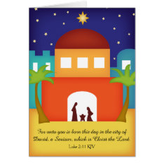 Star Over Bethlehem Christmas Nativity Card at Zazzle