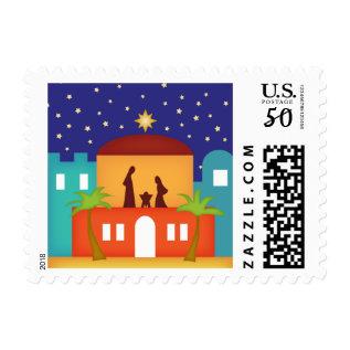 Star Over Bethlehem Christmas Nativity Postage at Zazzle