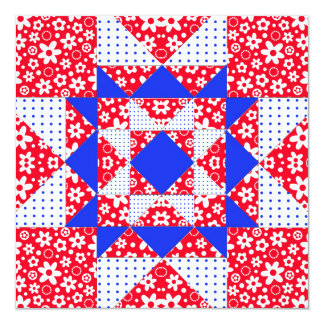 Star Patch Red White & Blue Card