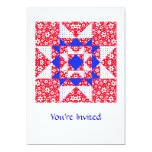 Star Patch Red White & Blue Personalized Invite