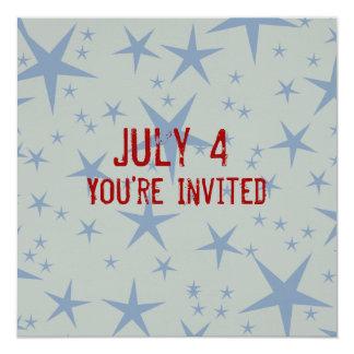 Star Patriotic Invitation