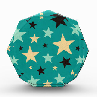 Star pattern acrylic award