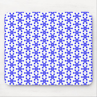 Star Pattern - Blue on White Mouse Pad