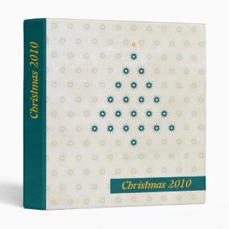 Star Pattern Christmas Tree Blue Photo Binder