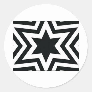 Star Pattern Classic Round Sticker