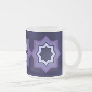 Star Pattern Frosted Glass Coffee Mug