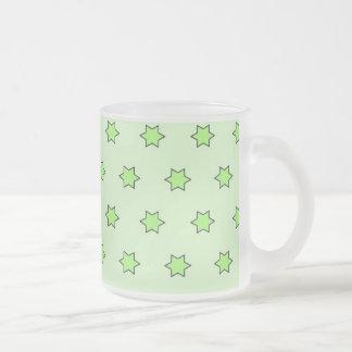 Star pattern,green bright mugs