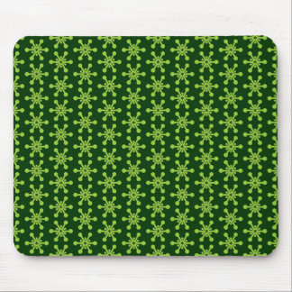 Star Pattern - Green on Dark Green 003300 Mouse Pad
