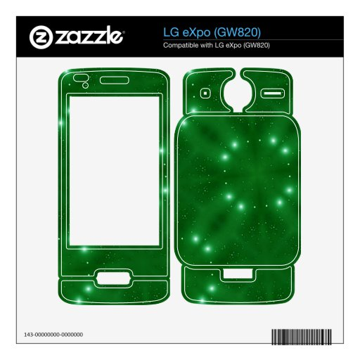 Star Pattern green Skin For LG eXpo