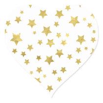 Star Pattern Heart Sticker