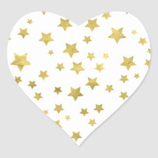Star Pattern Heart Sticker