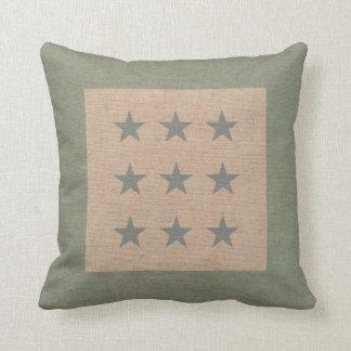 Star Pattern in Seafoam Green and Beach Blue Pillow