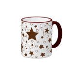 Star Pattern - Magenta Coffee Mugs