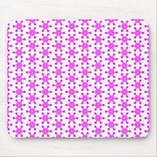Star Pattern - Magenta on White Mouse Pad