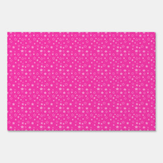 Star pattern on dark pink.png yard sign