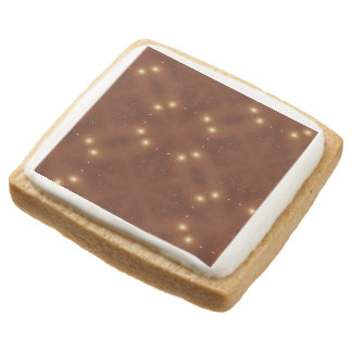 Star Pattern red. Square Premium Shortbread Cookie