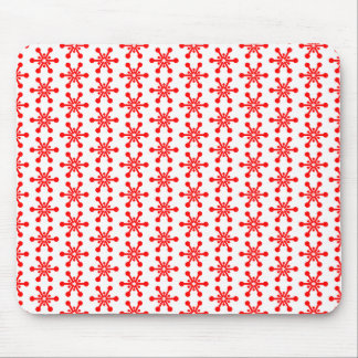 Star Pattern - Red on White Mouse Pad