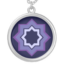 Star Pattern Silver Plated Necklace
