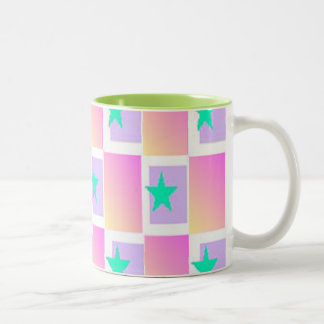 Star Pattern Two-Tone Coffee Mug
