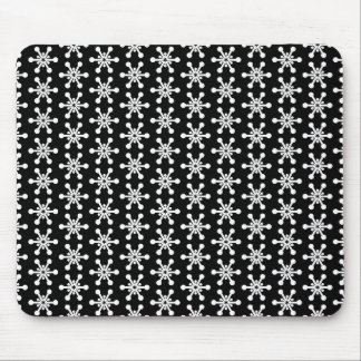 Star Pattern - White on Black Mouse Pad