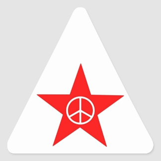 Star peace character star peace sign sticker