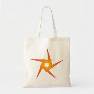 Star pentagon star Pentagon Canvas Bag