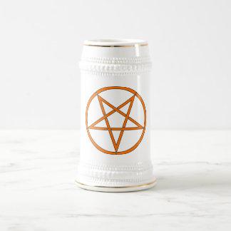 Star Pentagram Five 5 Pointed Symbol Classic Comic Beer Stein