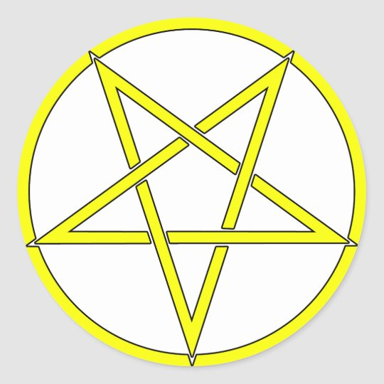 Star Pentagram Five 5 Pointed Symbol Classic Comic Classic Round Sticker